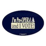 I'm Pro Opera Oval Sticker (50 pk)