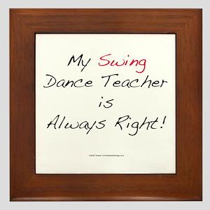 My Swing Dance Teacher Framed Tile