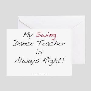My Swing Dance Teacher Greeting Card