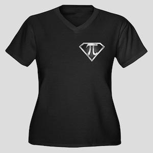 SuperPI(metal) Women's Plus Size V-Neck Dark T-Shi