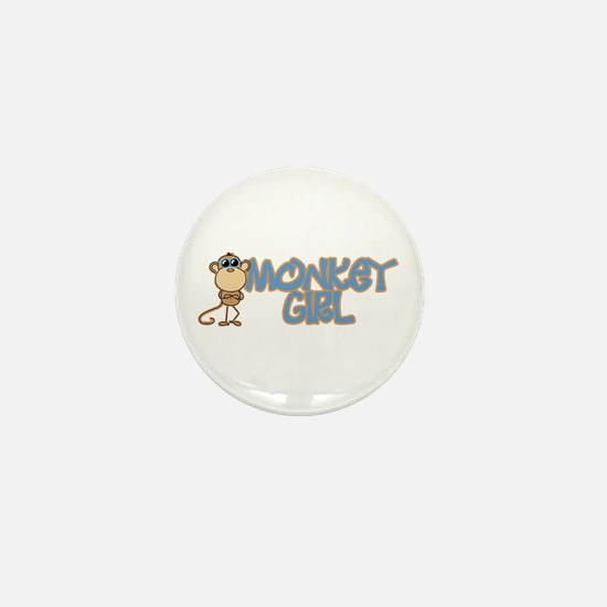 Monkey Girl Mini Button