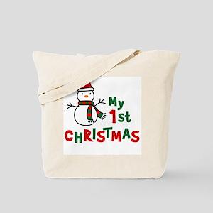 My 1st Christmas - Snowman Tote Bag