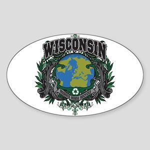 Wisconsin Green Pride Oval Sticker