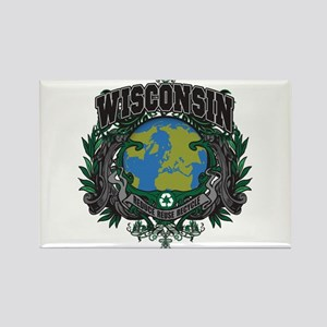 Wisconsin Green Pride Rectangle Magnet