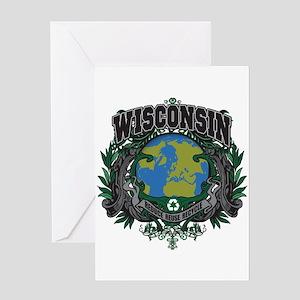 Wisconsin Green Pride Greeting Card