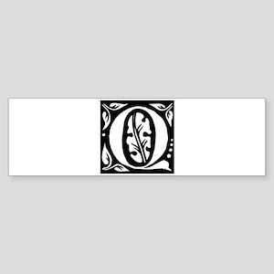 Art Nouveau Initial Q Bumper Sticker