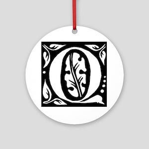 Art Nouveau Initial Q Keepsake (Round)