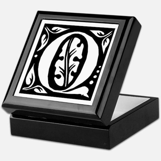 Art Nouveau Initial Q Keepsake Box