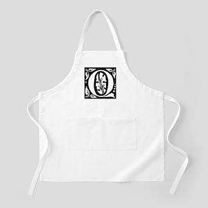 Art Nouveau Initial Q BBQ Apron