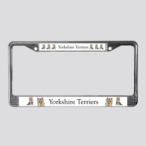 Yorkshire Terrier Her Highnes License Plate Frame