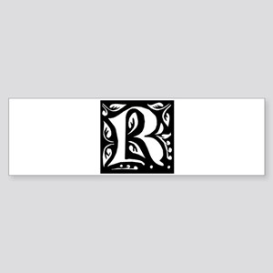 Art Nouveau Initial R Bumper Sticker