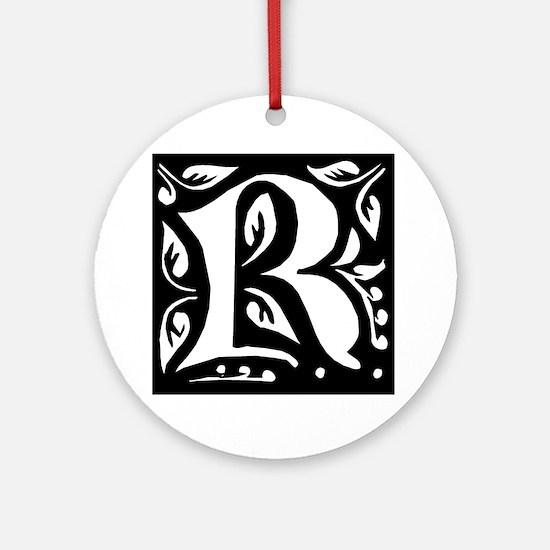 Art Nouveau Initial R Keepsake (Round)