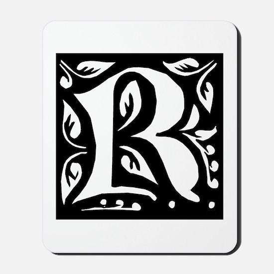 Art Nouveau Initial R Mousepad
