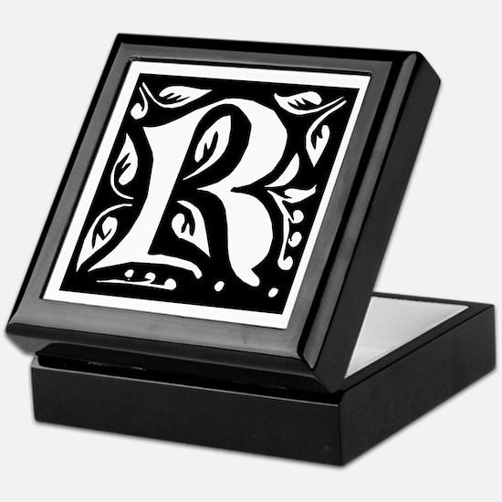 Art Nouveau Initial R Keepsake Box