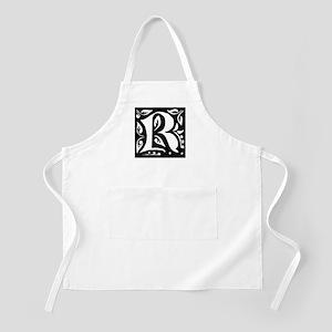 Art Nouveau Initial R BBQ Apron