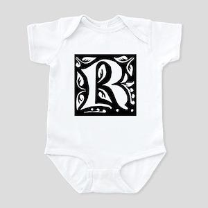 Art Nouveau Initial R Infant Creeper
