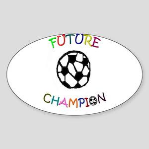 Soccer future champion Oval Sticker