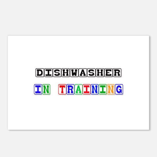 Dishwasher In Training Postcards (Package of 8)