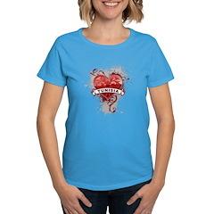 Heart Tunisia Women's Dark T-Shirt