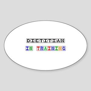 Dietitian In Training Oval Sticker