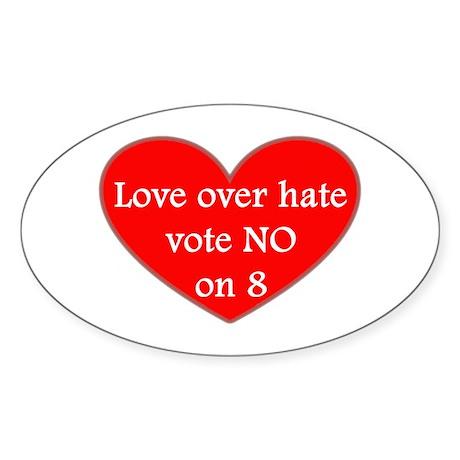 VOTE NO ON 8! (See Description) Sticker (Oval 50 p