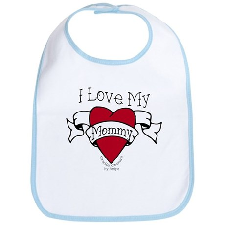 Mommy Heart Tattoo Bib