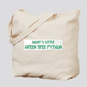 Daddys little Green Tree Pyth Tote Bag