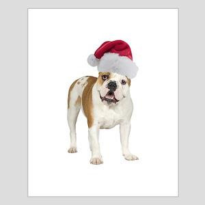 Bulldog Santa Small Poster