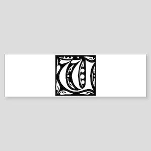Art Nouveau Initial W Bumper Sticker