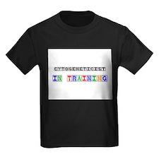 Cytogeneticist In Training Kids Dark T-Shirt