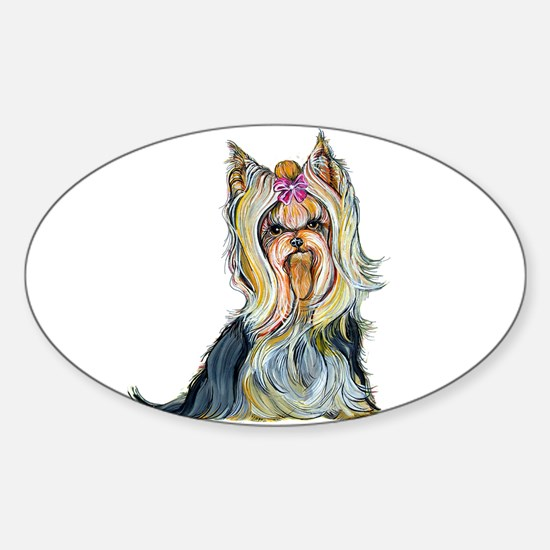 Yorkshire Terrier Her Highnes Oval Decal