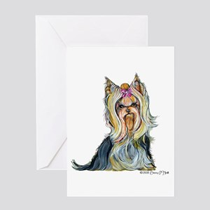 Yorkshire Terrier Her Highnes Greeting Card