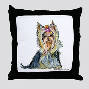 Yorkshire Terrier Her Highnes Throw Pillow