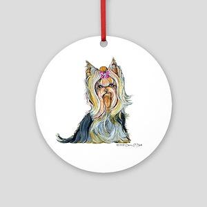 Yorkshire Terrier Her Highnes Ornament (Round)