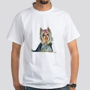 Yorkshire Terrier Her Highnes White T-Shirt