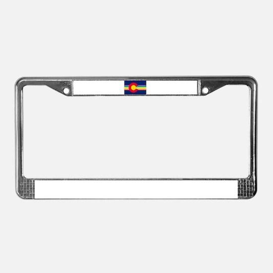 Big LGBTQI Colorado License Plate Frame