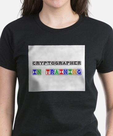 Cryptographer In Training Women's Dark T-Shirt