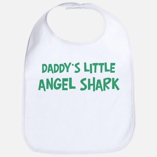 Daddys little Angel Shark Bib