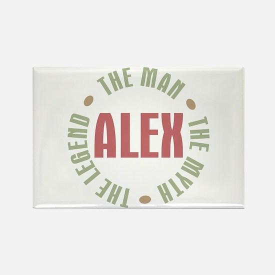 Alex Man Myth Legend Rectangle Magnet