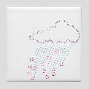 Raining Love Tile Coaster