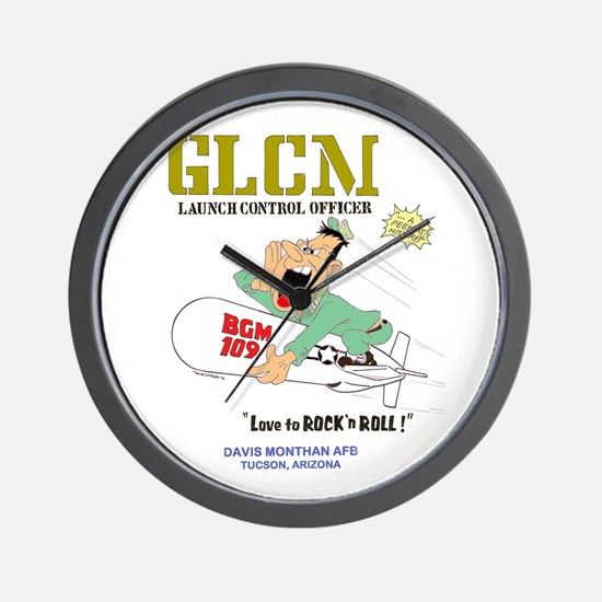 LAUNCH CONTROL OFFICER Wall Clock
