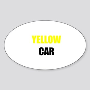 Yellow Car Sticker