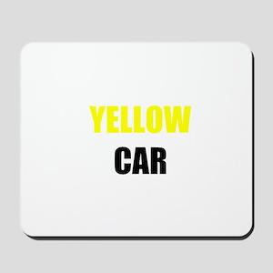 Yellow Car Mousepad