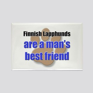 Finnish Lapphunds man's best friend Rectangle Magn