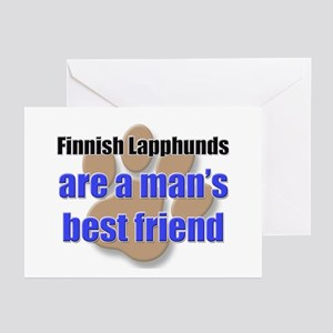Finnish Lapphunds man's best friend Greeting Cards