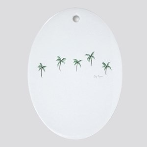 Palm Trees Keepsake (Oval)