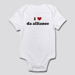 I Love da alliance Infant Bodysuit