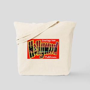 Hollywood California Greetings Tote Bag