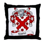 Napier Family Crest Throw Pillow