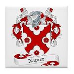 Napier Family Crest Tile Coaster